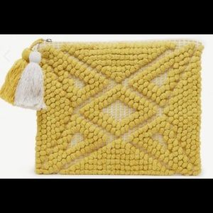 Sole Society woven fabric clutch